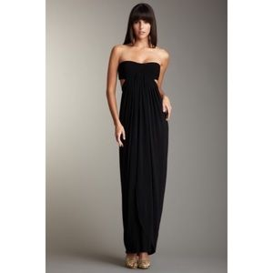BCBG Black Open Back Gown XXS